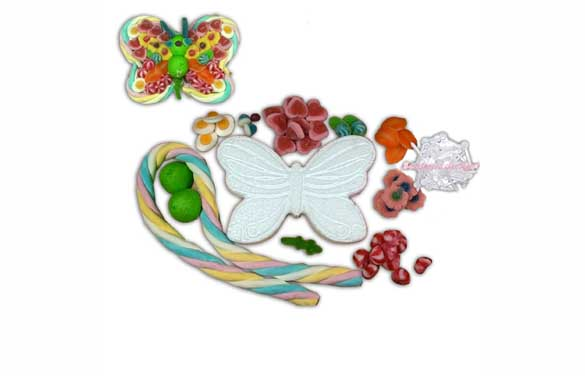 Kit gateau bonbon papillon